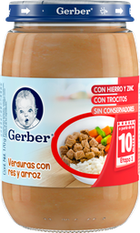 Papilla Gerber Etapa 3 Verduras Con Carne y Arroz 170 g