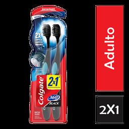 Cepillo Dental Colgate Dental 360 Grados Black 2 U