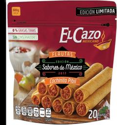 Flautas El Cazo Mexicano cochinita pibil 1 bolsa con 20 pzas