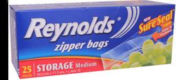 Bolsa para Alimentos Reynolds Resellable 25 U