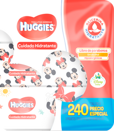 Toallitas húmedas Huggies cuidado hidratante 3 paquetes...
