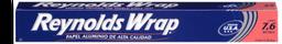 Papel Aluminio Reynolds Wrap 7.6 M x 30 Cm Caja 1 U