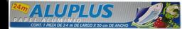Papel aluminio Aluplus 1 pza de 24 m x 30 cm