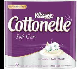 Papel Higiénico Kleenex Cottonelle Soft Care Doble Hoja 32 U