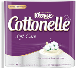 Papel Higiénico Kleenex Cottonelle Soft Care Doble Hoja 32 U