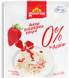 Avena Instantánea Granvita Integral Con Fresa Sin Azúcar 35 g
