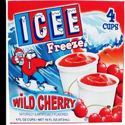 Nieve Icee freeze sabor cereza salvaje 4 pzas
