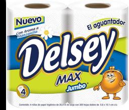 Papel Higiénico Delsey Max 300 HD Manzanilla 4 U