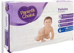 Pañales Parents Choice Talla 6 XXGrande 40 Piezas