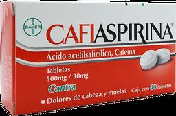 Cafiaspirina Forte 40 Tabletas (500 mg/30 mg)