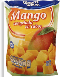 Mangos congelados Great Value en cubos 500 g