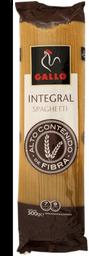 Pasta Gallo Spaghetti Integral 500 g