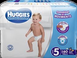 Pañal Huggies UltraConfort x 60 pz