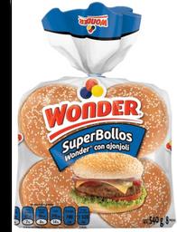 Pan Superbollos Para Hamburguesas 540 g