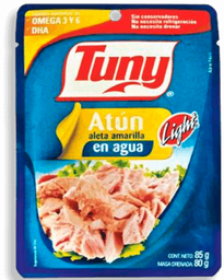 Atún Aleta Amarilla Tuny en Agua 75 g