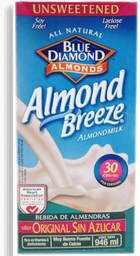 Leche Almond Breeze Almendras sin Azúcar 946 mL