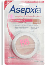 Asepxia Bb Maquillaje Polvo Fps 15 Natural Mate 10 G