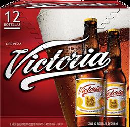 Cerveza Victoria Oscura Botella 355 mL x 12
