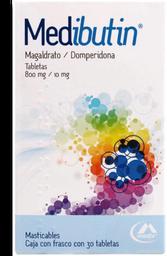 Medibutin Masticables 30 Tabletas (800 mg/10 mg)