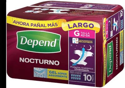 36c4f001f Protector para incontinencia Depend nocturno talla grande... a ...