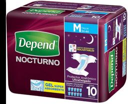 Protector Para Incontinencia Depend Nocturno Mediano 10 U