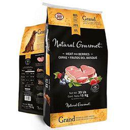 Natural Gourmet Alimento Raza Mediana y Grande Carne y Frutos