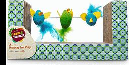 Leaps & Bounds Rascador Interactivo Con Aves Mediano