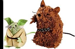 Star Wars Juguete de Ratones Chewbacca y Yoda Para Gato Chico