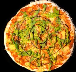 Pizza Arúgula, jamón serrano y reducción de balsámico