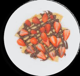 Crepa de Baileys, Fresas y  Chocolate