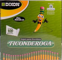 Lapiz De Grafito #2 Hb Caja C/100 Lapices Dixon Ticonderoga