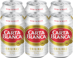 Cerveza Clara Carta Blanca X 6