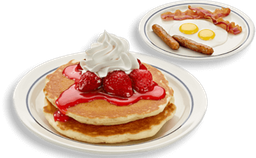 Pancakes Rooty Tooty Fresh 'N Fruity Combo