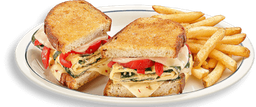 Omellete Spinach Roasted Red Pepper & Chesse Melt