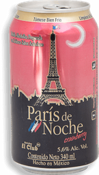 Paris De Noche Bebida Preparada Cranberry Lata