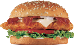 Bacon Swiss Crispy Chicken Fillet Sándwich