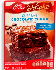 Harina para Brownie Betty Crocker Chocolate Chunk 510 g.