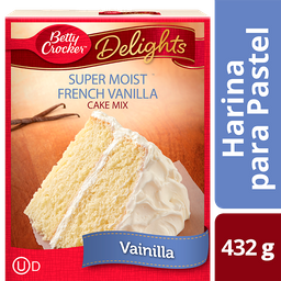 Harina Betty Crocker Super Moist Vainilla Francesa 550 g
