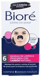 Bandas Bioré Ultra Limpieza Facial Profunda Nasales 6 U