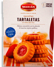 Tartaletas Relleno Sabor Fresa Marián 208 g