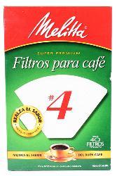 Filtros Para Café Melitta #4 Cono 40 U