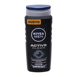 Jabón Corporal Nivea Men Active Clean 500 mL