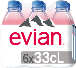 Agua Natural Evian Botella 330 mL