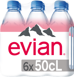 Agua Natural Evian 330 mL x 6