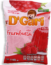 Gelatina D'Gari Frambueza 140 g
