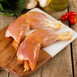 Pierna y Muslo de Pollo Sin Piel