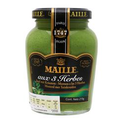 Mostaza Maille Verde a Las 3 Hierbas 215 g