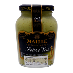 Mostaza Maille a la Pimienta Verde 215 g