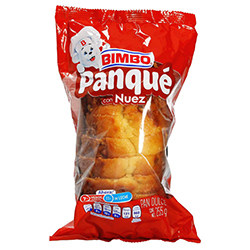 Pan Dulce Panqué Bimbo Con Nuez 255 g