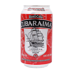 Cooler Cubaraima Ron y Cola Lata 340 mL